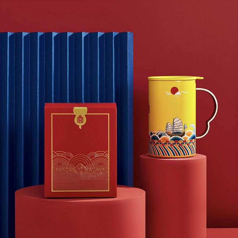 上新了故宫相变材料马克杯,碧海青心国风礼物