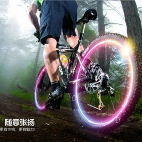 Bicycle flashing lights Night riding colorful bicycle motorcycle accessories electric lighting valve valve car tires
