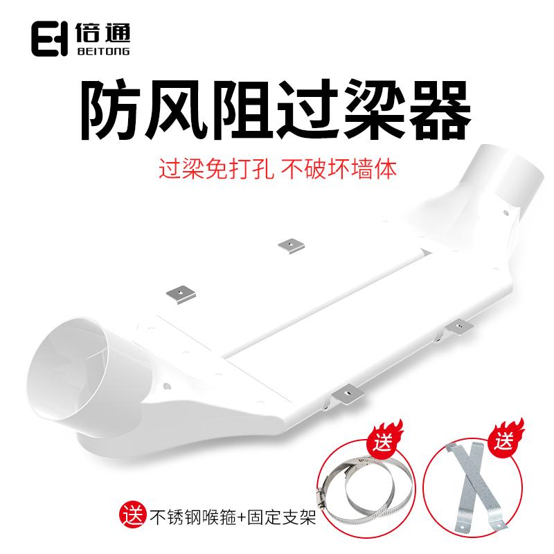 160 110 新風管道過梁器扁管橫梁過渡免打孔通風管轉接梁彎 ABS 倍通