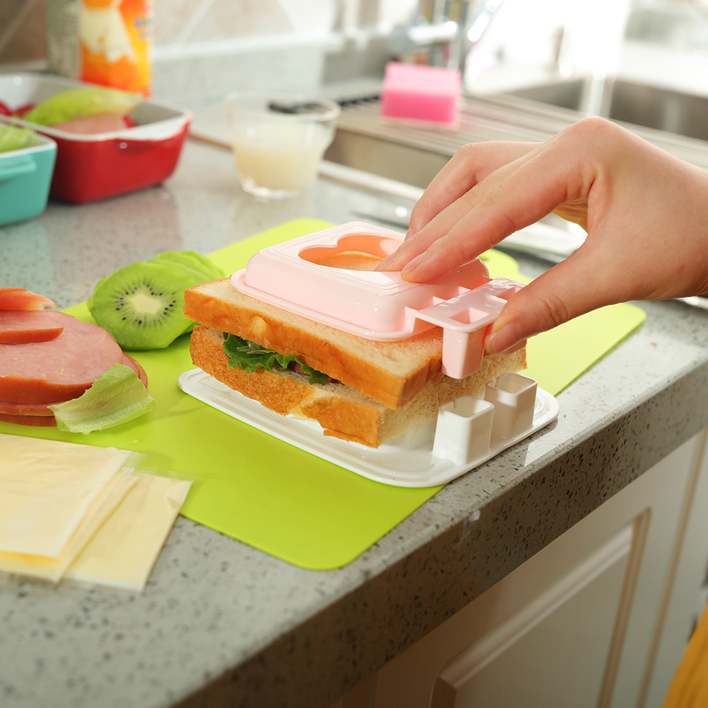 日本进口SANADA三明治模具心形口袋厨房用品早餐吐司工具面包制作