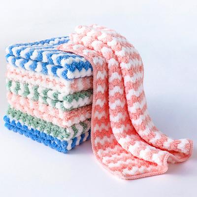不沾油不易掉毛抹布吸水洗碗布厨房清洁布小毛巾加厚擦桌百洁布