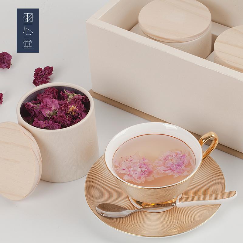 羽心堂大马士革玫瑰花冠王茶无硫天然烘干玫瑰花茶养生茶官网正品