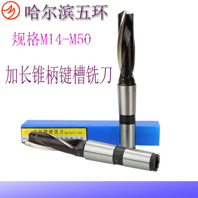 Milling cutter 14m16m20m2528m30m40m45m50m Harbin five ring cone shank extended keyway