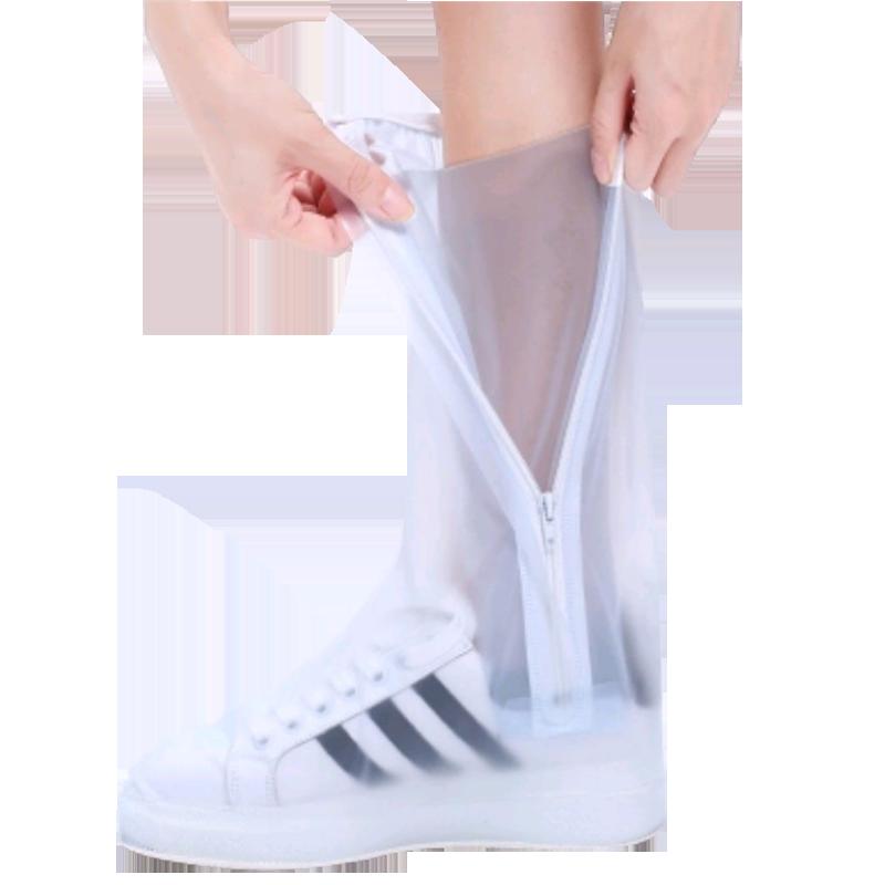 雨鞋套男女士高筒加厚耐磨防滑骑行韩国户外儿童学生脚套防水鞋套