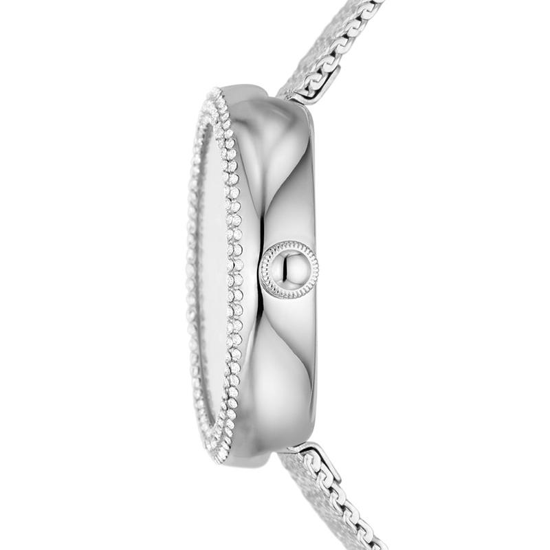 阿玛尼新品女士石英腕表镶钻贝母表盘不锈钢表链精致优雅AR11380