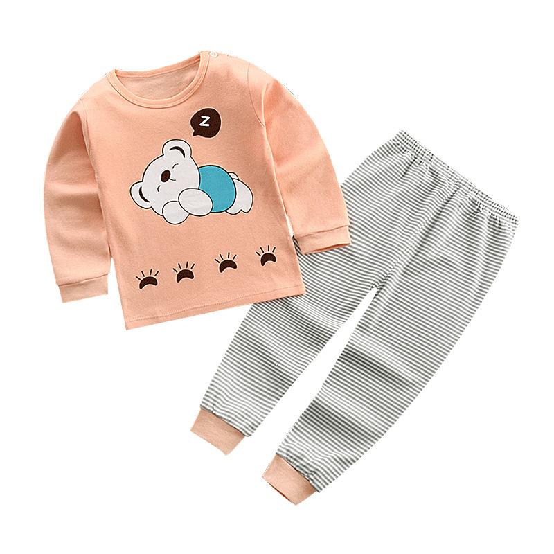 春秋童装内衣套装宝宝衣服男女婴儿秋衣裤儿童长袖纯棉睡衣0到6岁