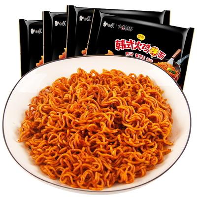 白象韩式火鸡面5袋装国产方便龙虾面干拌甜香辣整箱批发宿舍速食