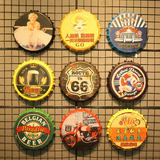 Gift decorative painting same paragraph text multifunction beer bottle diy handmade wooden fridge magnet magnet material gun