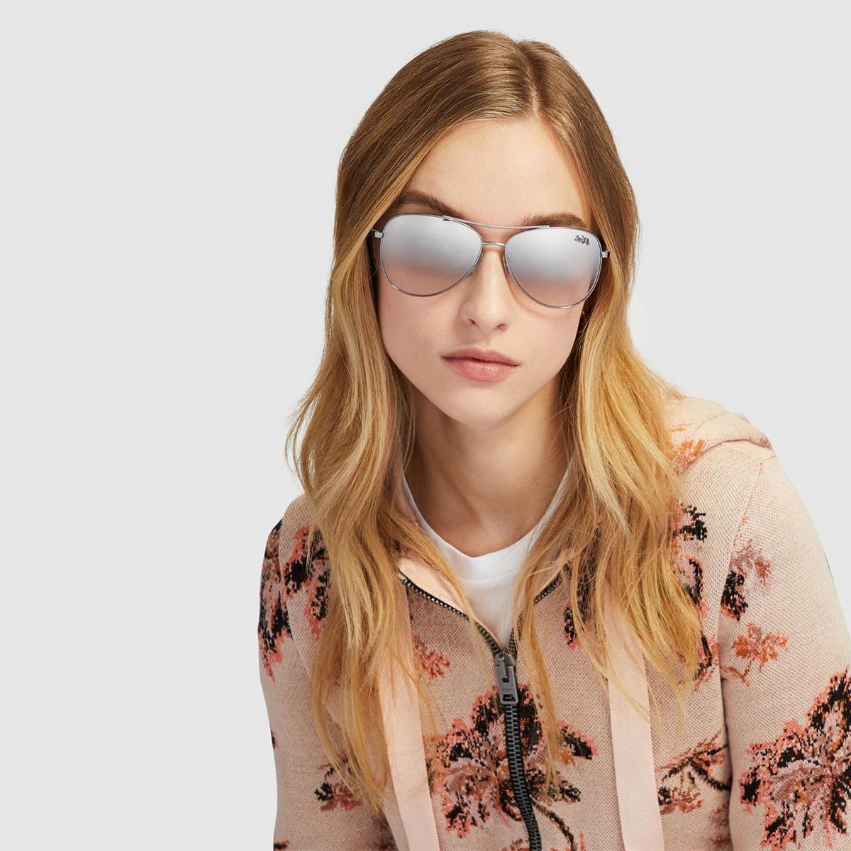 COACH 女士经典潮流时尚新款飞行毡太阳眼镜墨镜  蔻驰