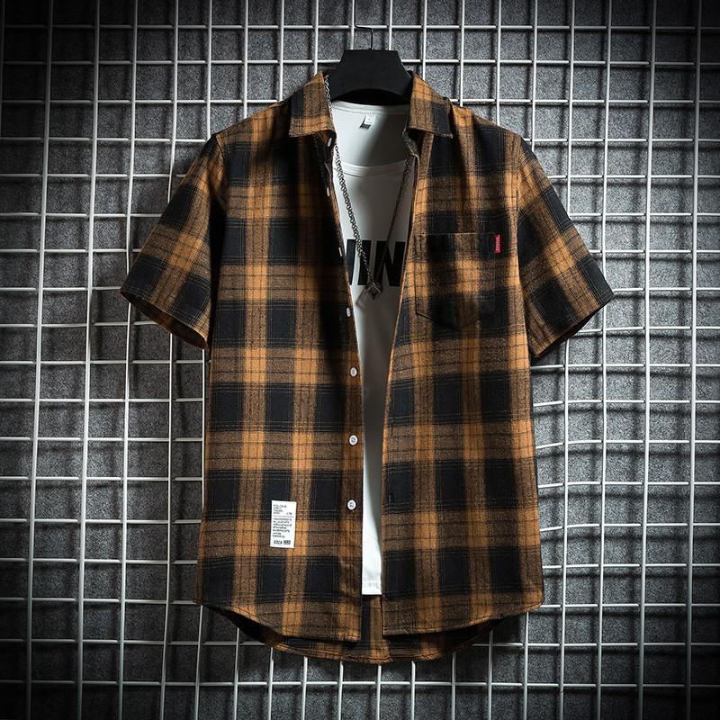 爵森马伯特夏季新款短袖衬衫休闲衬衣