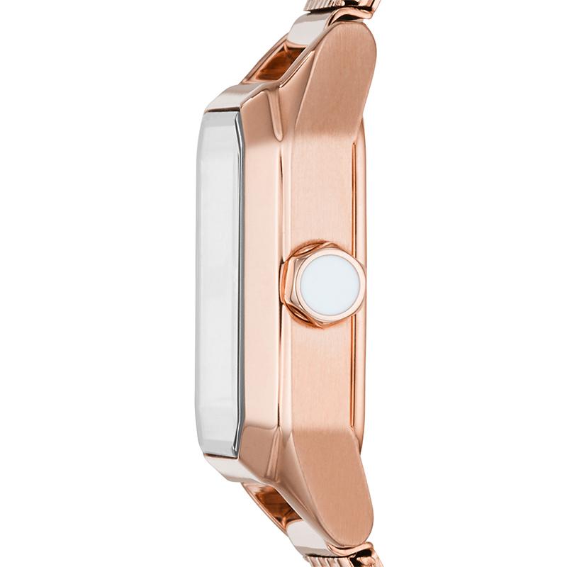 Armani阿玛尼女款小方表 新款钢带玫瑰金小表盘女士手表 AR11345