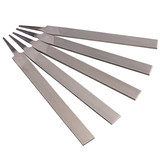 Letter workers without handle flat file fitter file large plate set flat metal carpentry polishing rubbing knife 4-16 inch thick / medium / fine teeth