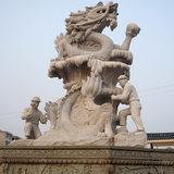 Granite stone and a half hand-carved stone animal animals garden landscape design customized support