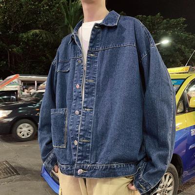 男士夹克2021春季新款韩版潮流宽松休闲日系上衣百搭工装牛仔外套