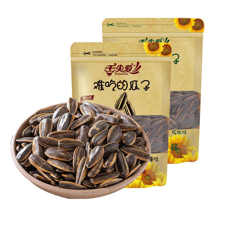 舌尖爱难吃的瓜子150g*2核桃焦糖味葵瓜子葵花籽过年年货休闲零食