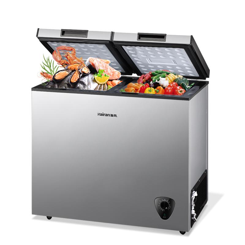 商用冷柜小型小冰柜家用迷你立式顶开单双门节能冷藏冷冻柜 186L