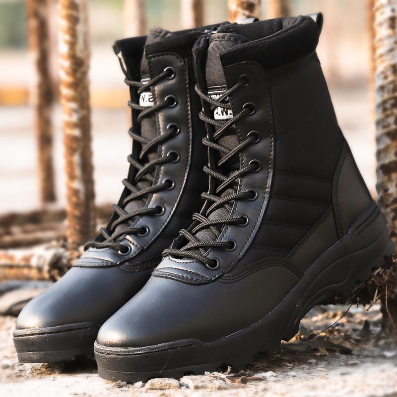 冬季加厚帶毛 作戰靴軍靴男特種兵作訓靴陸戰靴沙漠戰術靴軍鞋女  07