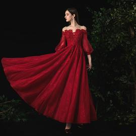 敬酒服春夏款酒红色2020新款新娘结婚礼服小个子现代孕妇气质显瘦