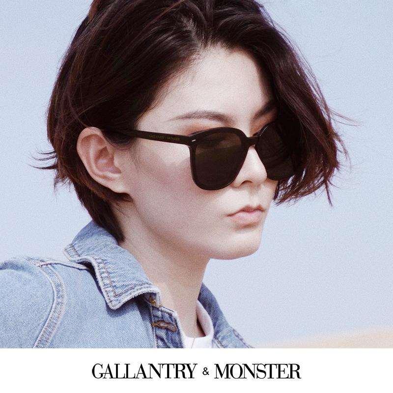 新款太阳镜女防紫外线眼镜男明星网红同款韩版圆脸潮近视墨镜 2020
