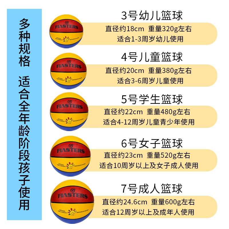 正品儿童篮球幼儿园宝宝3-4-5-7号小学生训练专用室外耐磨软皮球 No.1