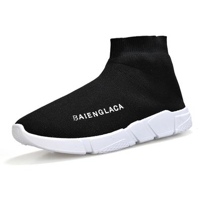 墨昂2019新款秋季弹力袜子鞋男士韩版潮流防臭针织袜短靴休闲鞋子