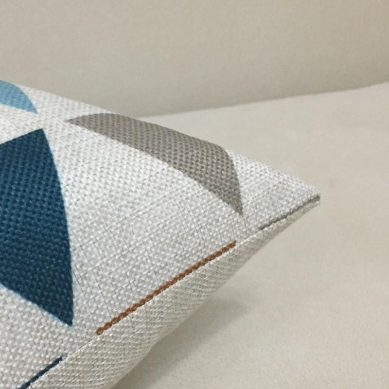 北欧风格长方形沙发抱枕护腰枕靠垫抱枕套办公室长椅子靠背含芯
