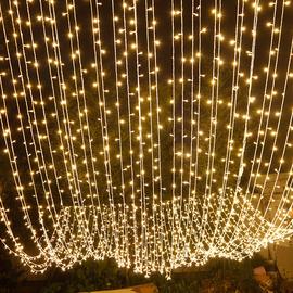 led小彩灯闪灯串灯满天星七彩变色房间布置太阳能网红星星装饰灯
