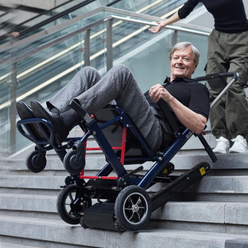 德国欧航电动爬楼机智能全自动上下楼梯的轮椅履带式老人爬楼神器