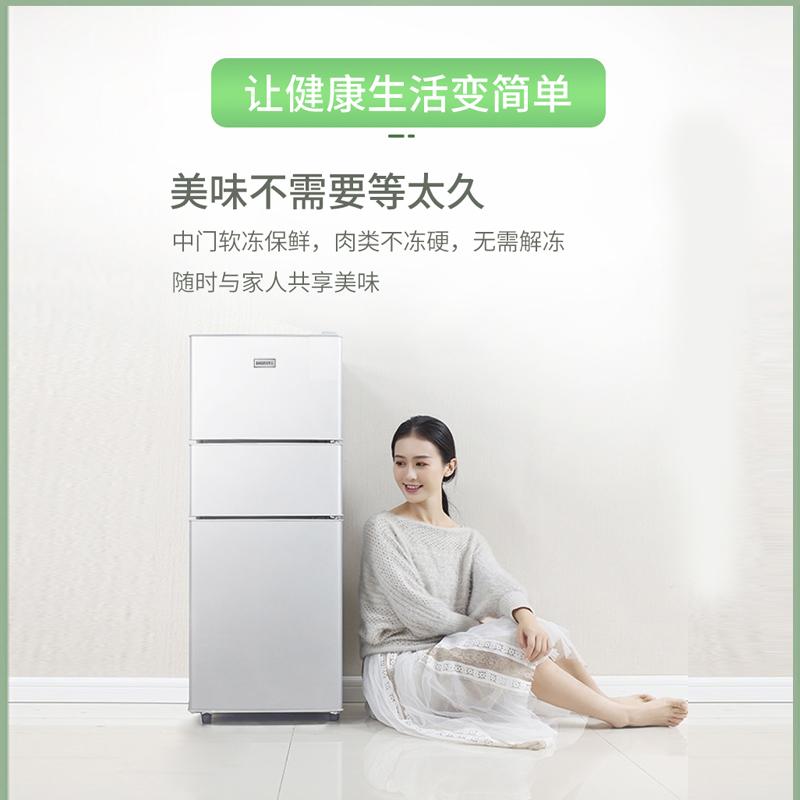 樱花节能小冰箱家用小型宿舍租房双开门冷藏冷冻迷你中型省电冰箱