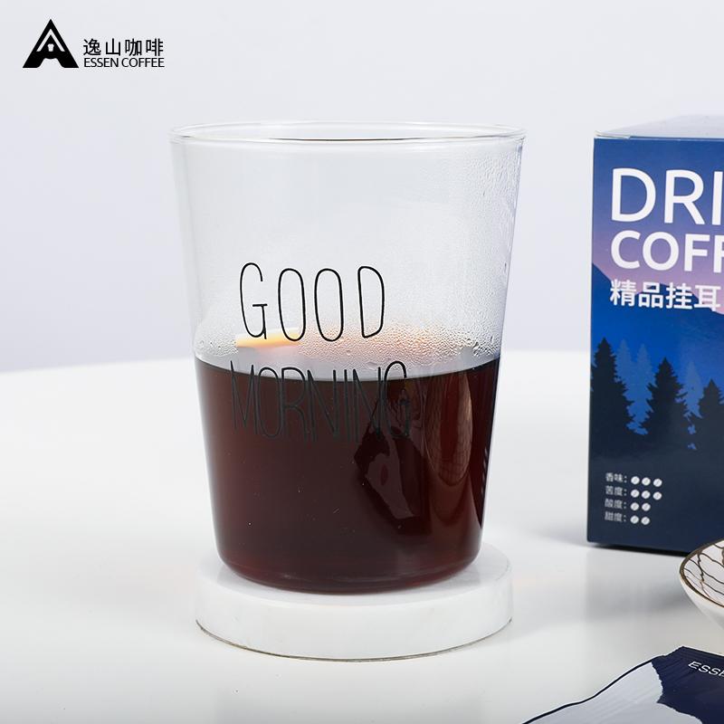 逸山咖啡掛耳咖啡純黑咖啡粉手沖濾掛非速溶特濃香美式咖啡曼特寧