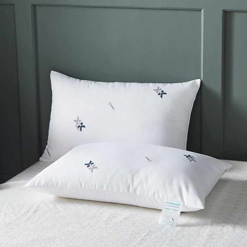 抑制甲型流感病菌枕芯蓬松柔软不塌陷抗菌枕头单人低中高枕一只装