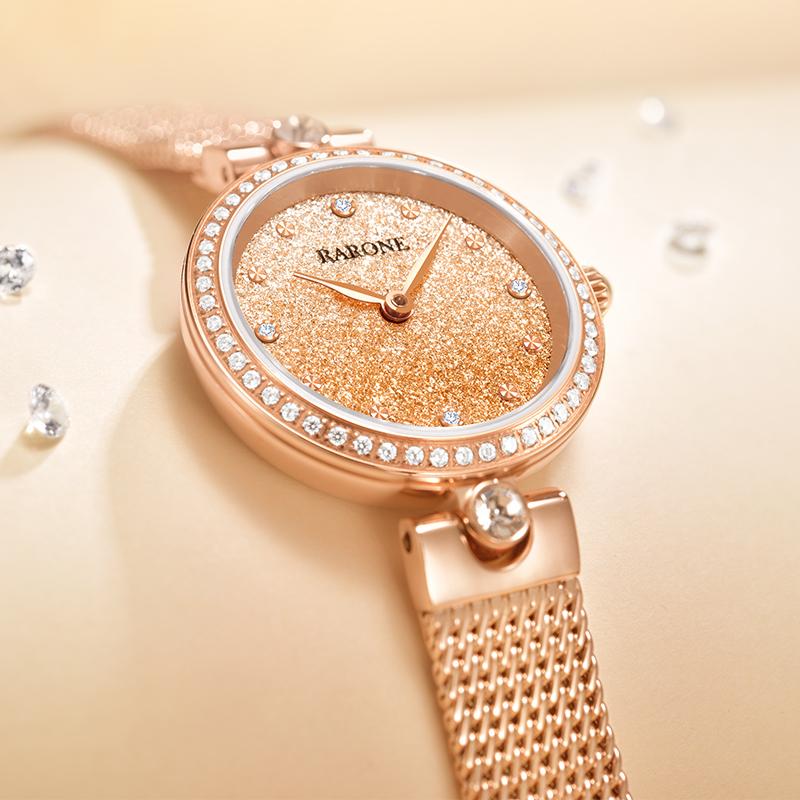 雷诺2020年新款手表女ins风时尚简约气质小表盘防水石英小金表