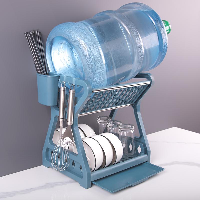 碗碟收纳架沥水碗架晾洗放碗筷碗盘收纳盒碗柜用品家用厨房置物架
