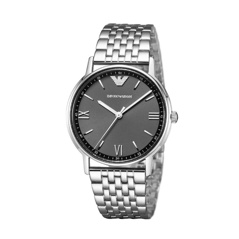 Armani阿玛尼男表经典石英机芯不锈钢腕表 简约时尚手表男AR11068