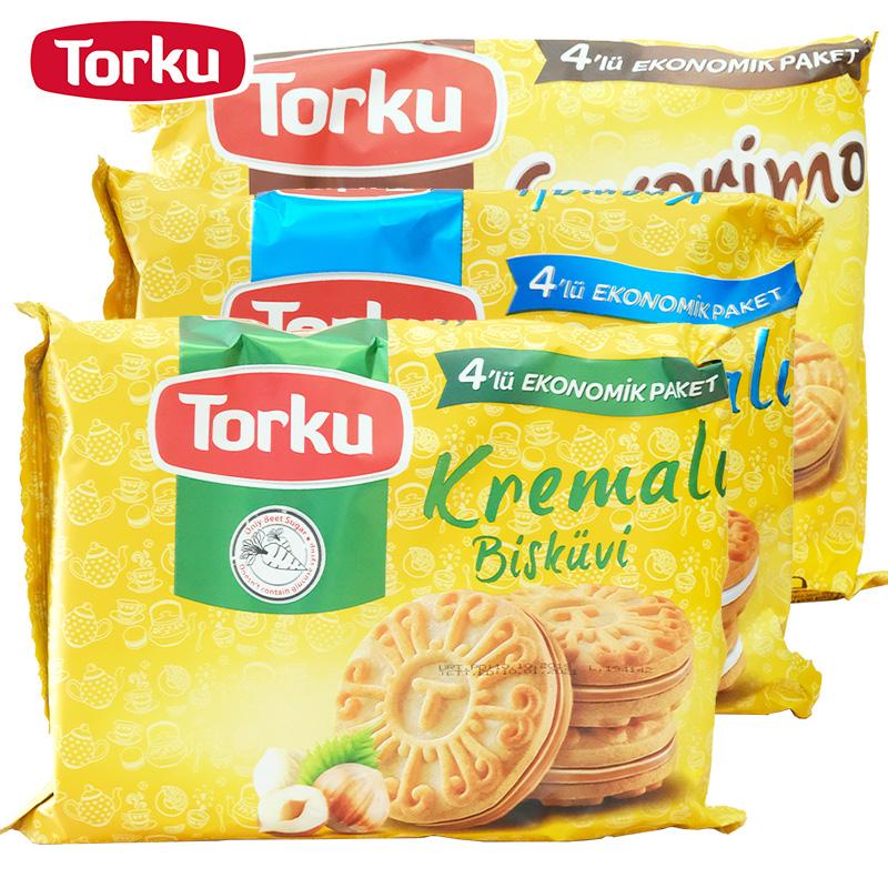 Torku多可进口食品巧克力夹心饼干老式休闲代餐童年小零食包邮