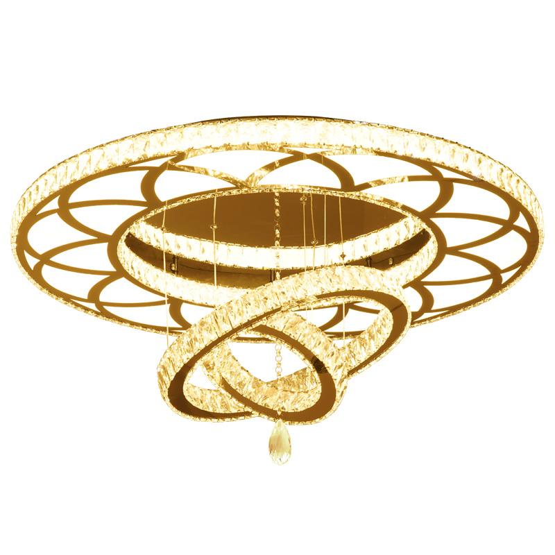 水晶灯轻奢餐厅灯圆形卧室灯家用 led 新款客厅灯吊灯现代简约 2020