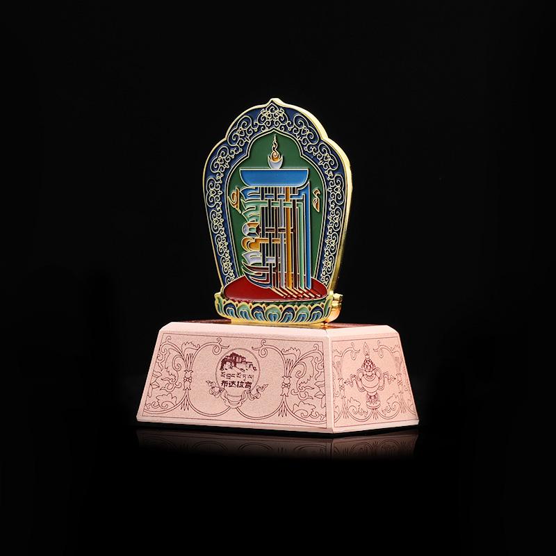 布达拉宫十相自在车载摆件金色祈福平安寓意室内客厅饰品送礼物