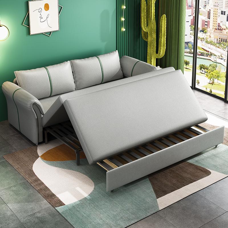 折叠沙发床客厅多功能两用小户型坐卧推拉可伸缩单人网红款科技布