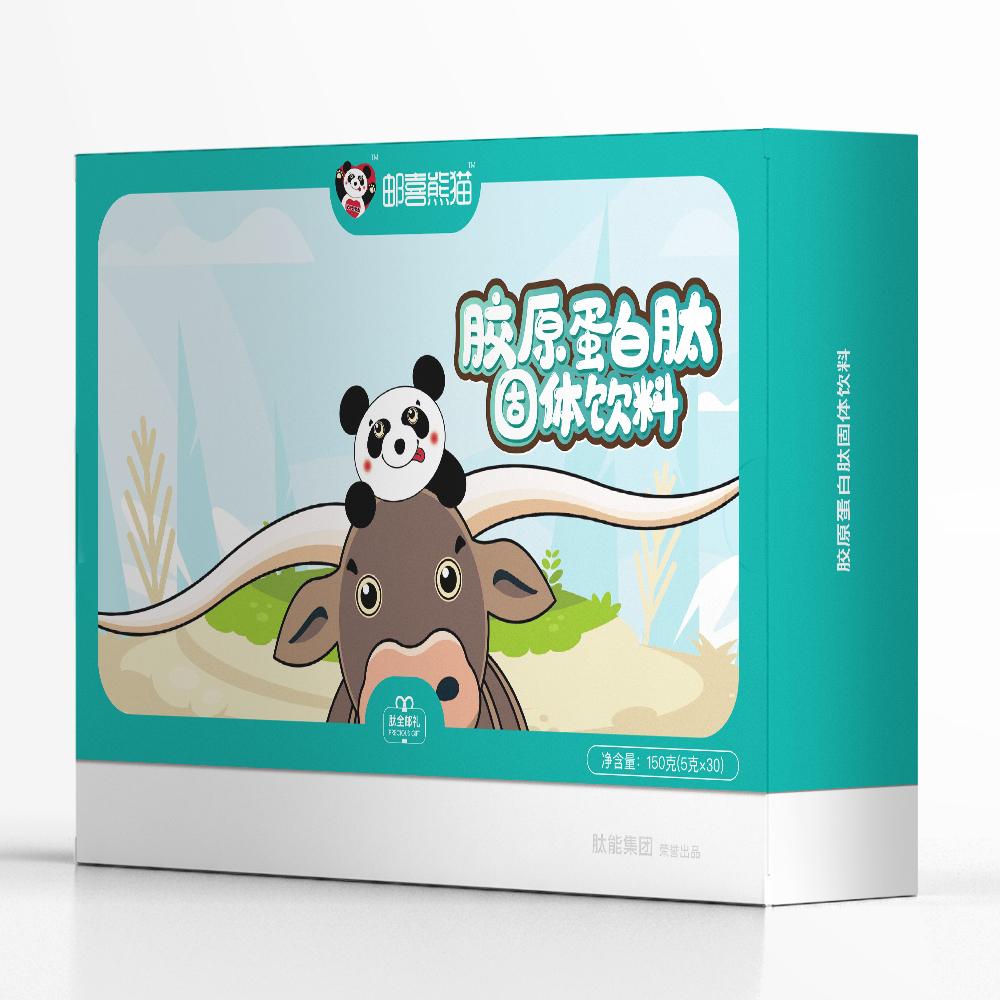 邮喜熊猫牛骨胶原蛋白肽固体饮料纯植物蛋白小分子肽粉