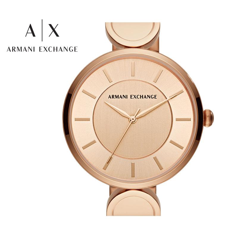 Armani阿玛尼正品手表女士小表盘时尚简约石英女表轻奢腕表AX5328