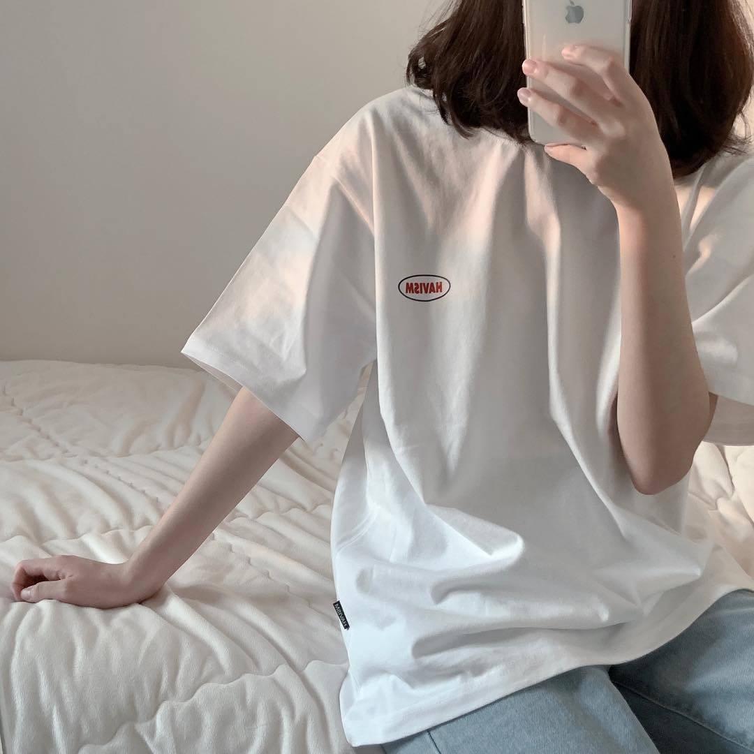 棉超火cec白色短袖t恤女学生2021新款韩版宽松衣服女ins上衣体恤