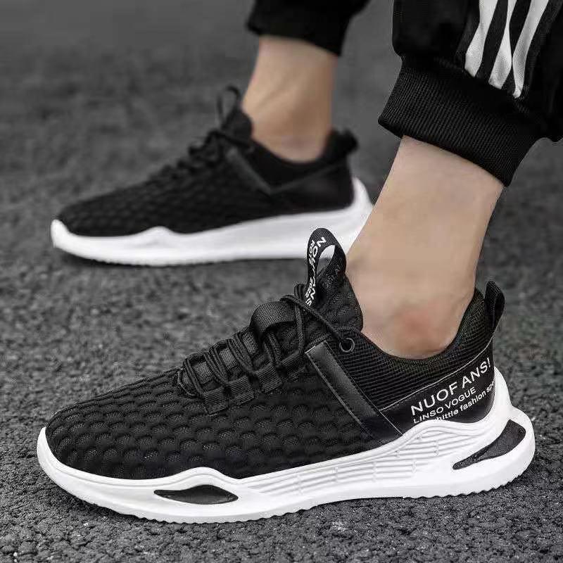 夏季新款男网鞋飞织运动鞋男鞋透气休闲鞋2021椰子鞋男士跑步鞋潮