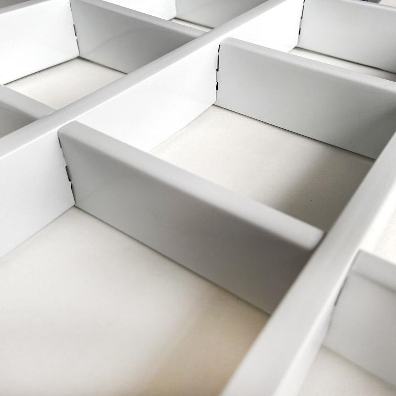 铁铝格栅吊顶黑白金属网格棚室内自装集成葡萄架方格天花板装饰顶