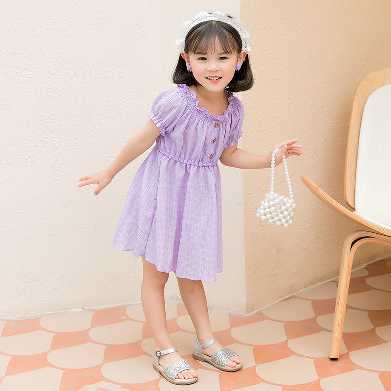 儿童公主裙可爱小女孩连衣裙2021新款中小童女童夏装裙子洋气时尚