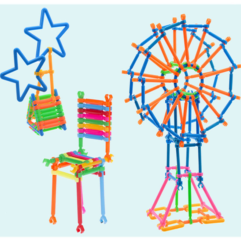 儿童聪明魔术棒积木塑料拼插玩具