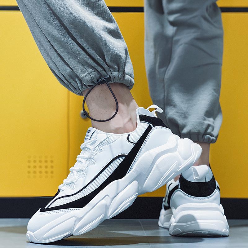 厚底老爹鞋秋季男士潮运动鞋透气夏季新款INS港风百搭学生跑步鞋