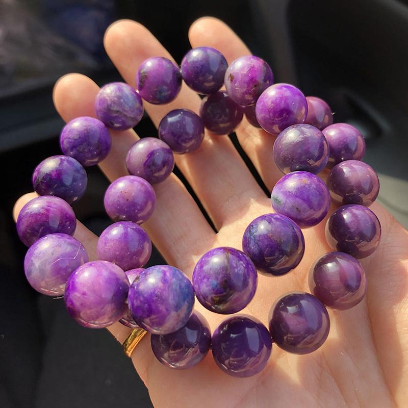 23  下午场 超七月光石和田玉紫锂辉红纹石 1 天然水晶手链海纹石极光