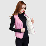 Warm plus thick plus velvet armor women winter short Korean version of the down cotton vest women light thin beat bottom lamb cashein horse clip