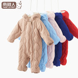 Down to hold the baby out clothes baby New Year winter clothes for men and women baby infant leotard Romper thick