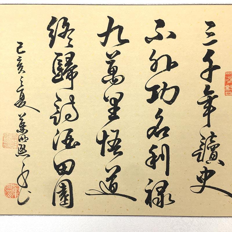 南懷瑾人生最高境界書法手寫真跡名家字畫客廳書房辦公室勵志掛畫